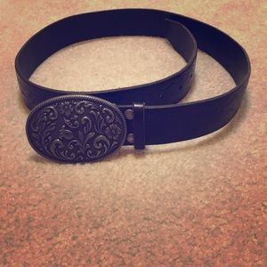 American Eagle black Italian leather belt